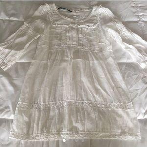 White boho Zara dress